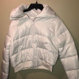 Lovers and Friends white puffer coat sz sm NWT